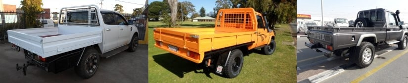 ute reconditioning at perth 4wd - Steel tray fitting on Toyota, landcruisers and more