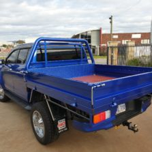 blue hilux tray